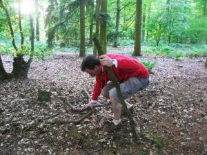 hout sprokkelen sleutelhanger de Berghut Rauris Oostenrijk