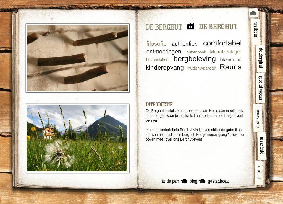 website de Berghut 2009 2