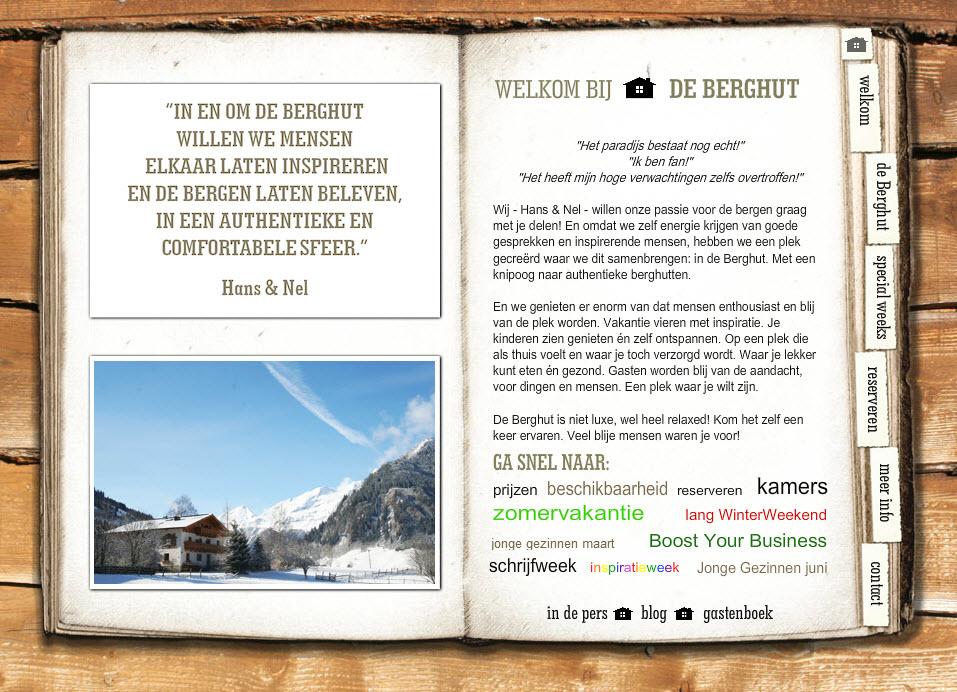 website de Berghut 2009 3