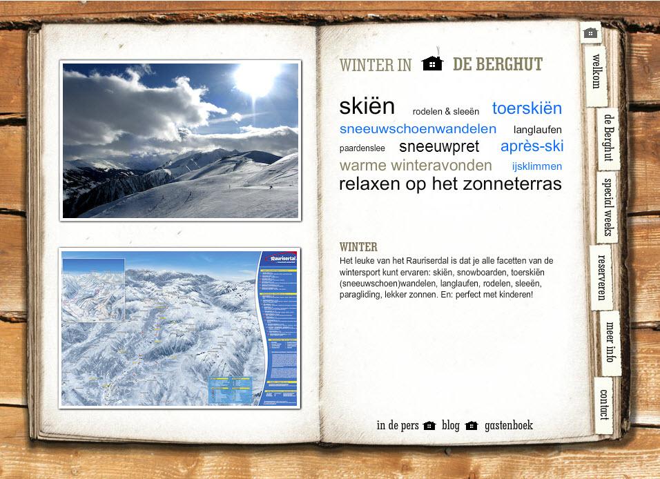 website de Berghut 2009 7