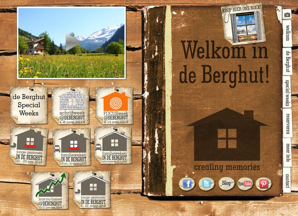 website de Berghut 2009